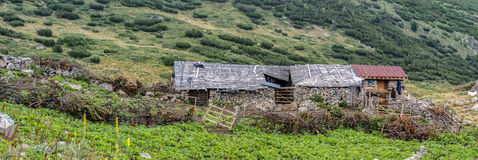Old cottage in a mountain Royalty Free Stock Photo