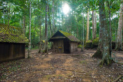 Old cottage in Phu Hin Rong Kla national park Royalty Free Stock Photography