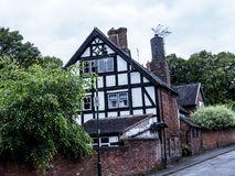 Old Cottage in the Picturesque Town of Sandbach in South Cheshire England Royalty Free Stock Image