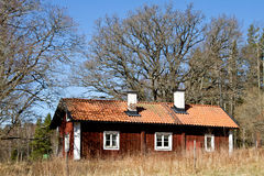 Old cottage in sweden. Royalty Free Stock Photo