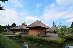 Old cottage. A view of the row of old weavers cottages at Tama Ayun Bali Royalty Free Stock Images