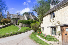 Old Cottages, Bibury,, Gloucestershire, Cotswolds, UK Stock Photos