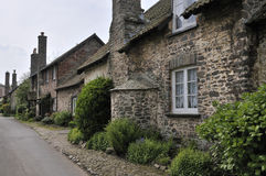 Old Cottages in Bossington Stock Image