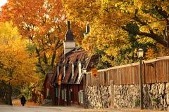 Old cottages in central Stockholm Stock Images