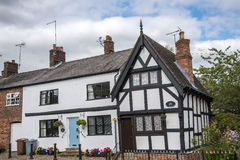Old Cottages in the Cheshire Market Town  of Sandbach England Stock Photography