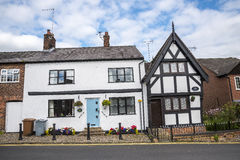Old Cottages in the Cheshire Market Town  of Sandbach England Stock Photos