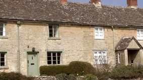 Old Cottages stock video footage
