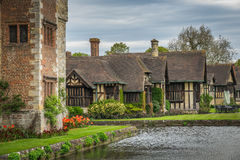 Old cottages in Hever Castle gardens Stock Image