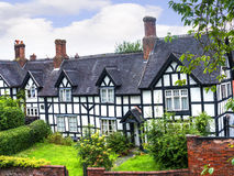 Old Cottages in the Picturesque Town of Sandbach in South Cheshire England Royalty Free Stock Photos