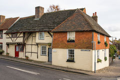 Old Cottages in Steyning, West Sussex, England Royalty Free Stock Photos