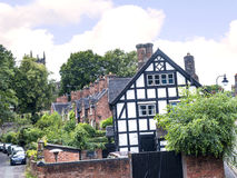 Old Cottagesl in the Picturesque Town of Sandbach in South Cheshire England Stock Images