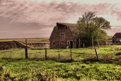 An old country barn. royalty free stock photo