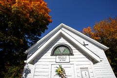 Old Country Church in Autumn Royalty Free Stock Images