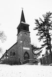 Old Country Church in Black and White Royalty Free Stock Photo