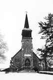 Old Country Church in Black and White Royalty Free Stock Images