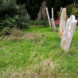 Old country churchyard, graveyard UK. Royalty Free Stock Photos