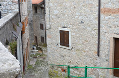 A country that does not speak. Old country of Erto Italy Royalty Free Stock Photography