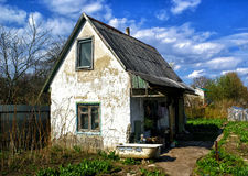 Old country house in ruins Royalty Free Stock Photos