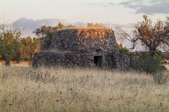 Old country house in Salento at sunset. Italy Royalty Free Stock Photo
