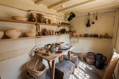 Old country kitchen. The interior of an old country kitchen Royalty Free Stock Image