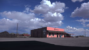 Old Country Library Low Angle Big Sky stock video