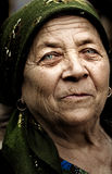 Old country rural romanian woman Stock Photography