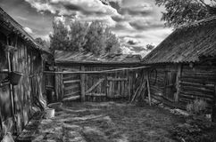 Old country Russian house. Old rural house, unpretentious and natural Stock Images