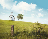 Old country school house  on a hill Stock Photography