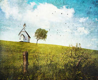 Old country school house  on a hill Stock Photo