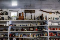 Old Country Store Shelves Royalty Free Stock Photos
