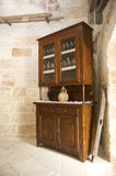 Old country style cabinet. In rustic farm Royalty Free Stock Image