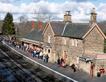 Old Country Train Station, England Stock Image