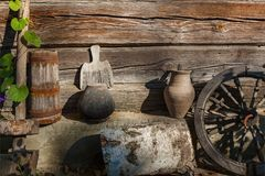 Old country ware and utensils Stock Images