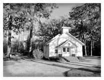 Old Country Wood Church. A old country wood church with grave yard Stock Image