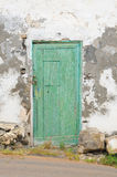 Old countryhouse on Lanzarote. An old door with peeling paint; Haria, central Lanzarote, Canary islands, Spain Royalty Free Stock Photo