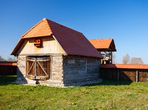 Old countryside barn in Romania Stock Photography