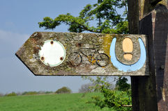 Old Countryside Footpath Sign Post Royalty Free Stock Photo