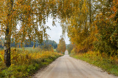 Old countryside road in autumn Stock Photos