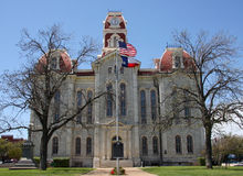 Old county courthouse. Historic building Parker county courthouse, it was built in 1886, Texas USA royalty free stock image