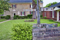 Old County Jail and stocks in Bardstown Kentucky USA Royalty Free Stock Images