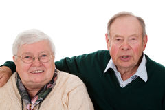 Old couple Stock Images
