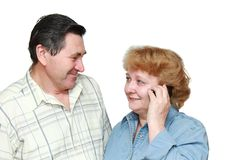 Old couple Royalty Free Stock Photography