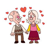 Old couple Royalty Free Stock Image