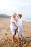 Old couple beach Royalty Free Stock Images