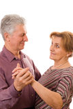 Old couple dancing Stock Photography