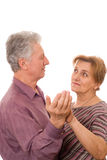 Old couple dancing Stock Photo