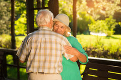 Old couple dancing. Stock Photography