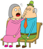Old couple dating. Old couple having a dating Royalty Free Stock Images