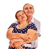 Old couple embracing Royalty Free Stock Photo