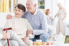 Old couple enjoying retirement together Stock Photography